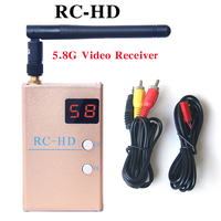 FPV 5.8GHz 48CH RC HD Video Receiver 1080P HDMI Output & A/V and Power Cables For FPV Racing Drone
