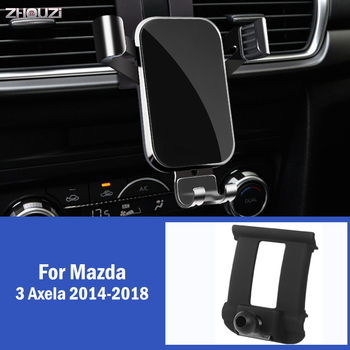 Car Mobile Phone Holder GPS Gravity Mounts Stand Navigation Bracket For Mazda 3 Axela 2014 2015 2016 2017 2018 Car Accessories image