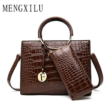 New Crocodile Leather Bags 2019 Women Handbags Luxury Designer Female Crossbody Messenger Totes Ladies Party Shoulder Bag Purse цены