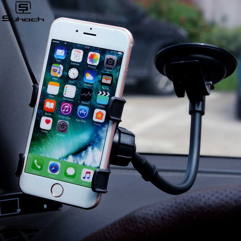 Universal Car Phone Holder Flexible 360 Degree Rotation Mount Windshield Mobile Phone Holder For IPhone 11 Car Holder GPS Stand