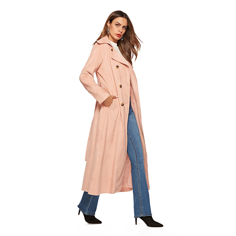 Long Coat Women Trench Coat For Women Corduroy Korean Clothes Spring Coat Women Ropa Mujer Women Clothes 2019 женский плащ Buty