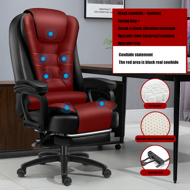 High Quality Boss Office Silla Gamer Poltrona Chair Can Lie Wheel Synthetic Leather With Footrest Ergonomics Office Furniture 3