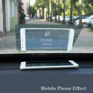 Image 3 - 10 adet 12cm * 9cm Yansıtıcı Film GPS HUD Otomobil Head Up Display araç ön camı Projektör Aksesuarları