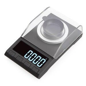Image 2 - 0.001g الدقة ميزان إلكتروني 100g/50g/20g الرقمية وزنها جوهرة مجوهرات ميزان الماس مختبر المحمولة الوزن مليغرام