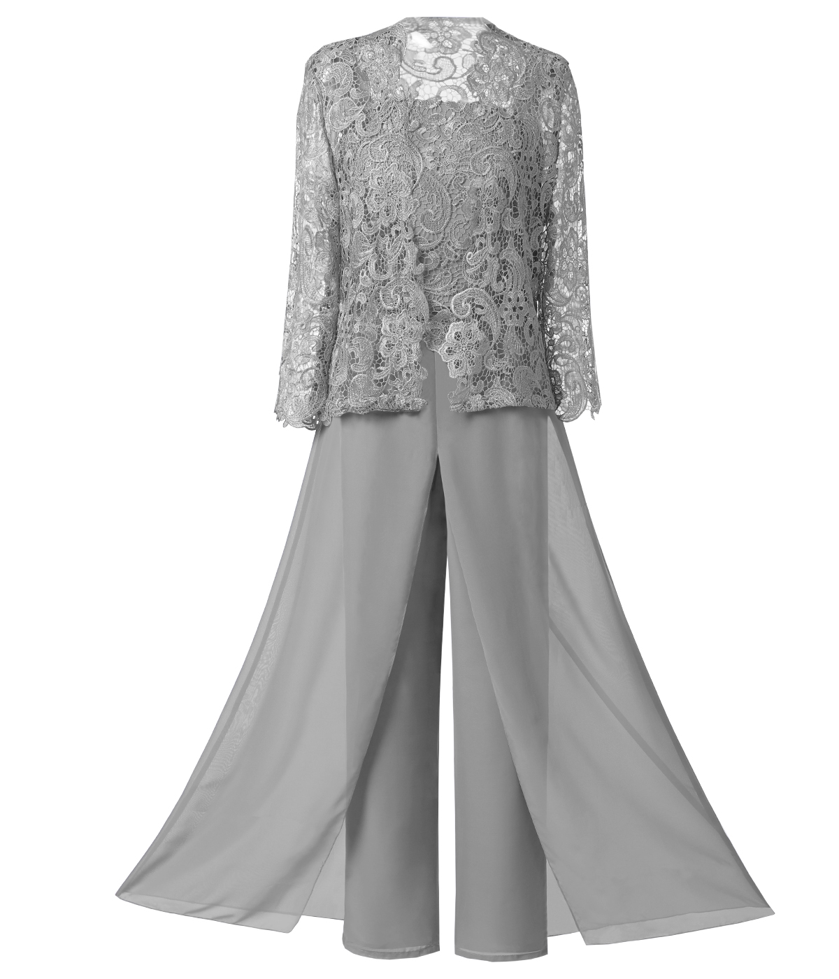 Solovedress 3 Three Pieces Mother Of The Bride Dress Pants Suit With Jacket Outfit Formal Evening Lace Wedding Groom SL-M06