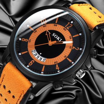 цена на reloj hombre 2020 Luxury Fashion Watch Men Military Sport Quartz WristWatch Man Casual Leather Strap Watches relogio masculino