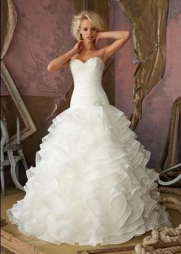 2016 limité étage-longueur robe de mariée livraison gratuite nouveau Long blanc/ivoire robe de bal de mariée taille personnalisée pas cher robes de mariée
