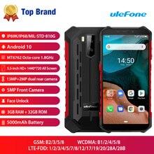 Ulefone هاتف ذكي Armor X5, هاتف Ulefone Armor X5 IP68/IP69K هاتف ذكي متين يعمل بنظام أندرويد 10.0 مقاوم للصدمات 5000 مللي أمبير ثماني النواة 5.5 بوصة OTG NFC 3GB 32GB 4G LTE هاتف محمول