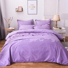 Роскошные кружевные комплекты постельного белья, один двойной пододеяльник, набор фиолетовых одеял без простыни, доступны разные размеры