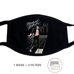 Моющаяся многоразовая маска для лица многократная защита рта Mascarilla Michael Jackson Billie Jean King Of Pop Graphic
