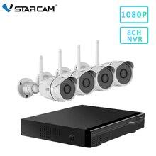Vstarcam 8CH NVR + 4 C17S 1080P su geçirmez ip kamera NVR Kitleri CCTV Gözetim Sistemi Kitleri Video Kaydedici ev güvenlik kamerası