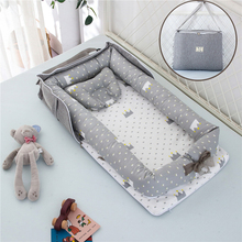 Newborn Bed Baby Cot Nest Bed Set Protect Cradle Cushion Bumper Portable Travel Crib Removable Washable Anti-squeeze Bed In Bed
