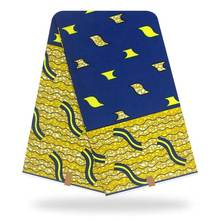 Нигерийские восковые принты ткани 100% хлопок восковая ткань
