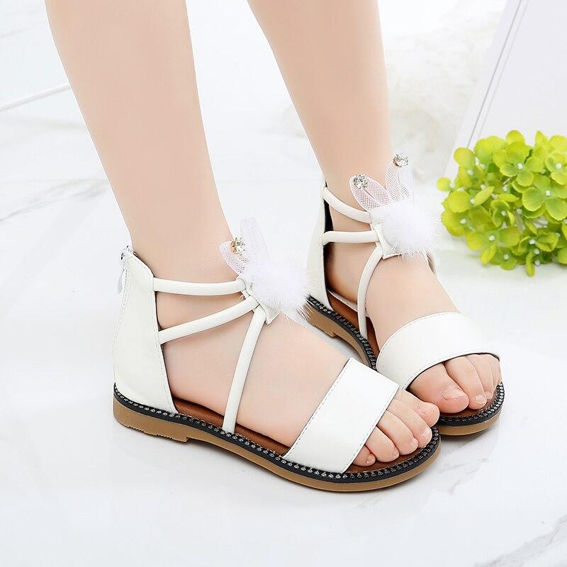 New Summer Kids Sandals Cute Cartoon Rabbit Design Sandal Girl Open Toe Princess Shoes|Sandals| |  - title=