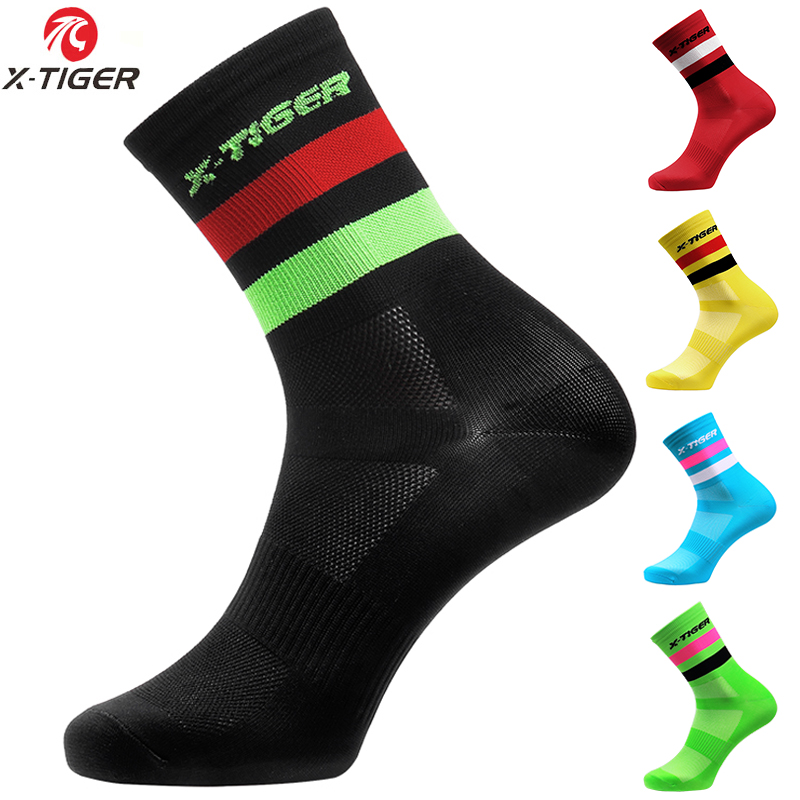 X-TIGER High Quality Professional Cycling Socks Men Women Breathable Bicycle Socks Outdoor Racing Bike Compression Sport Socks