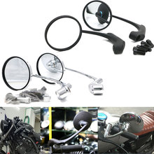Nordson Universal 1 Pair Motorcycle Mirrors Side Rearview Mirror 8mm 10mm Aluminum Black for Harley Davidson