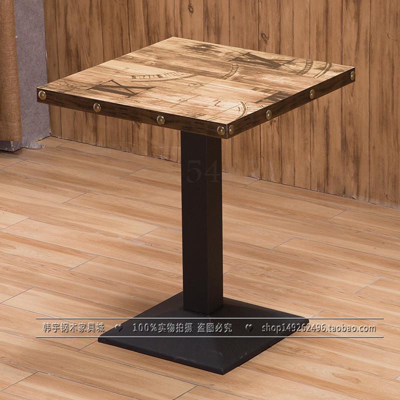Изготовленный На Заказ кафе ресторан в западном стиле открытый стол десерт магазин обеденный стол молока Чай Ресторан общественного питания быстрая обеденный стол и стул комбинации - Цвет: 60x60cm  7