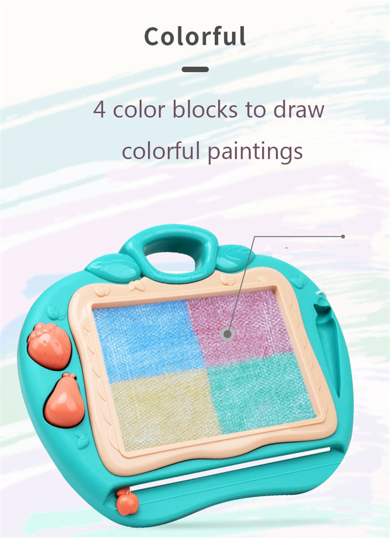 36*17cm Magnetic Drawing Board Desk Toys For Girls Boys Sketch Pad Doodle Writing Painting Table Art Learning Children Kids Toy 8
