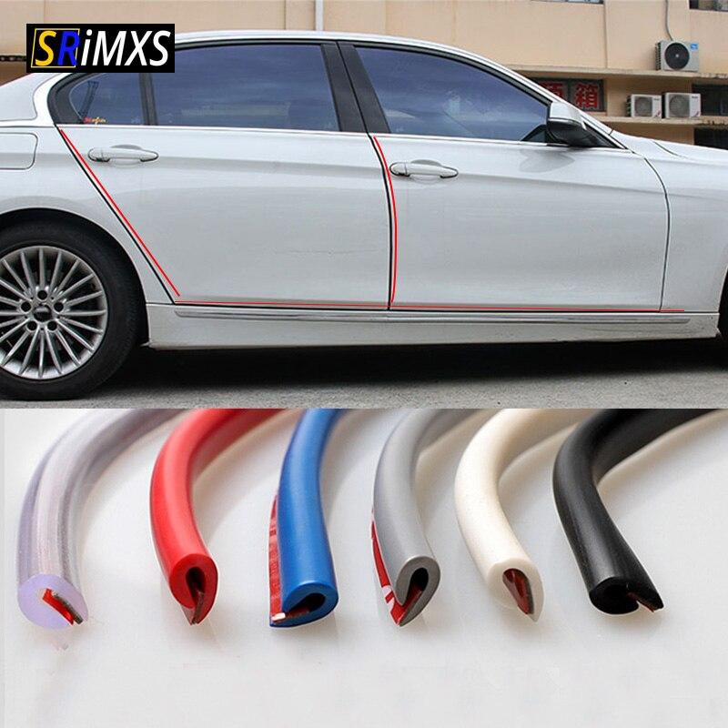 5M Auto Tür Kante Gummi Schutz Streifen Seite Türen Formteile Seite Anti-tragen Schutz Auto Tür Vor Kratzern DIY Auto-styling