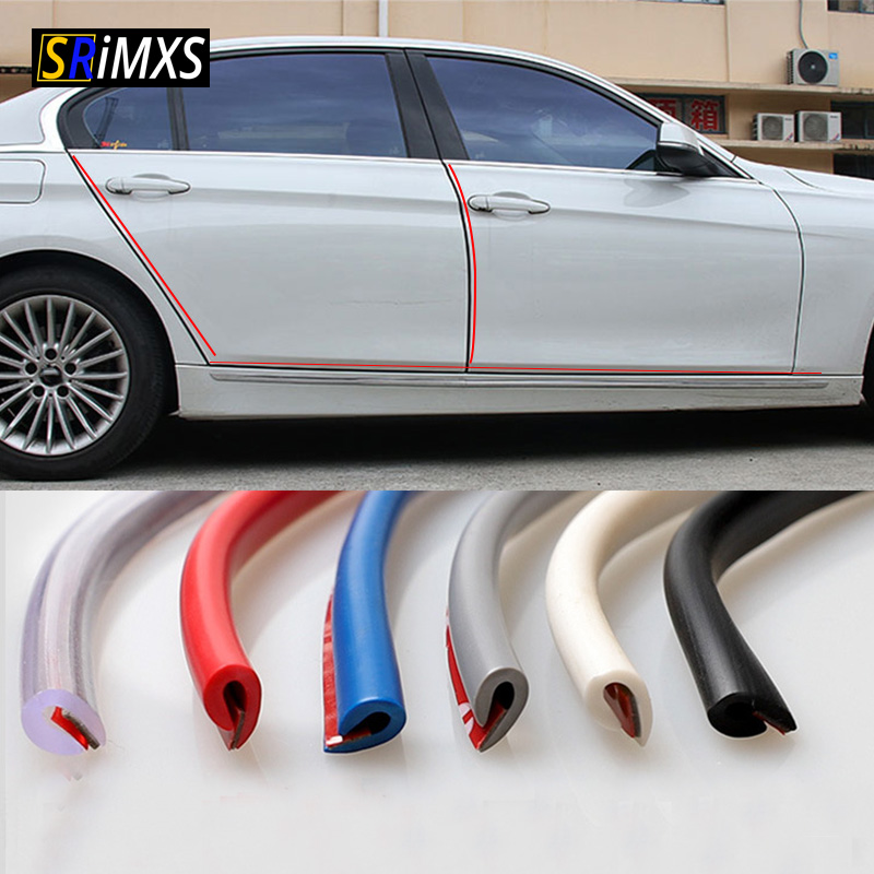 Rubber-Protection-Strips Moldings-Side Door-Edge Car-Door DIY Scratches Car-Styling 5M title=