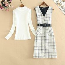 Осень зима 2020 комплект из двух предметов платье комбинезон