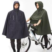 QIAN-chubasquero Impermeable para hombre y mujer, cubierta de lluvia para bicicleta, diseño reflectante, para ciclismo, escalada, senderismo