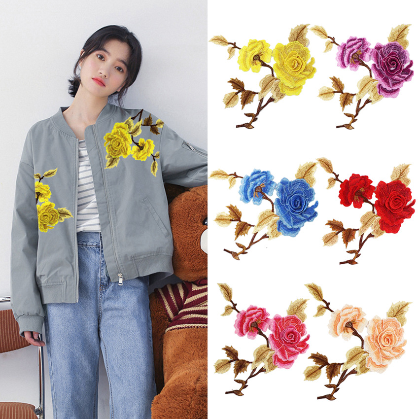 Accessories Stereo 3D High-end Color Home Flower Cloth Patch Water Soluble Flower Patch Computer Embroidery Logo