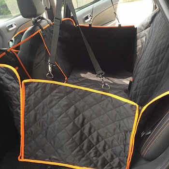 Dog Car View Mesh Waterproof Pet Carrier Car Rear Row Rear Seat Cushion Hammock with Zipper and Pocket Breathable Cushion Cat