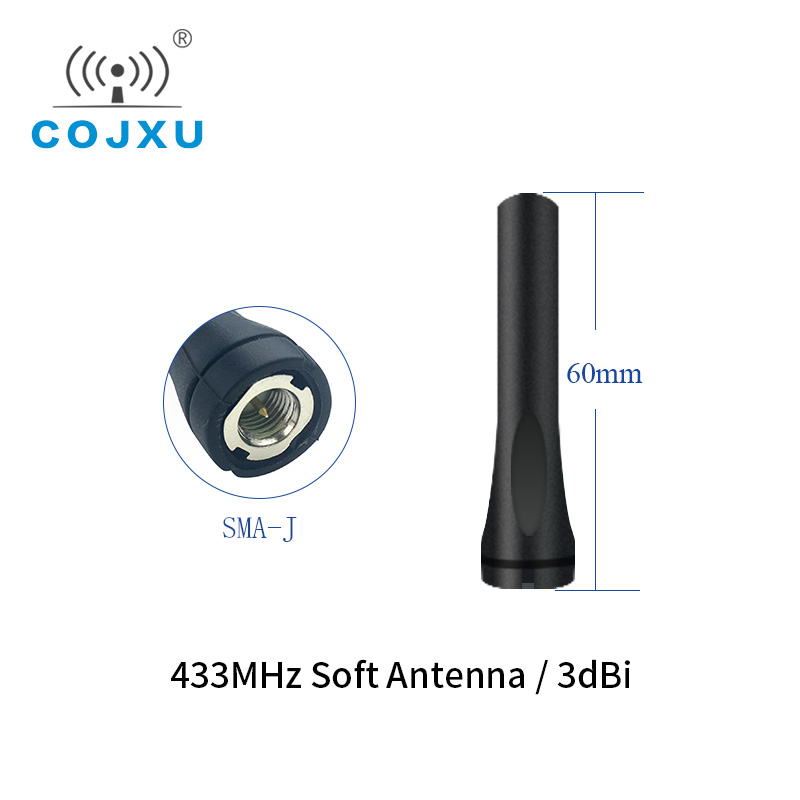 433MHz Wifi Antenna For Lora Module 3.0dBi High Gain Omnidirectional SMA-J 60mm Length TX433-JZR-6 Aerial Antenna