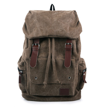 цена men's backpack vintage canvas backpack school bag women's travel bags large capacity backpack bag high quality онлайн в 2017 году