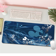 Cartoon Mickey Large Natural Rubber Mouse Pad 70x30cm Waterproof Game Desk Cartoon Minnie Mousepad Keyboard Mat Birthday gift