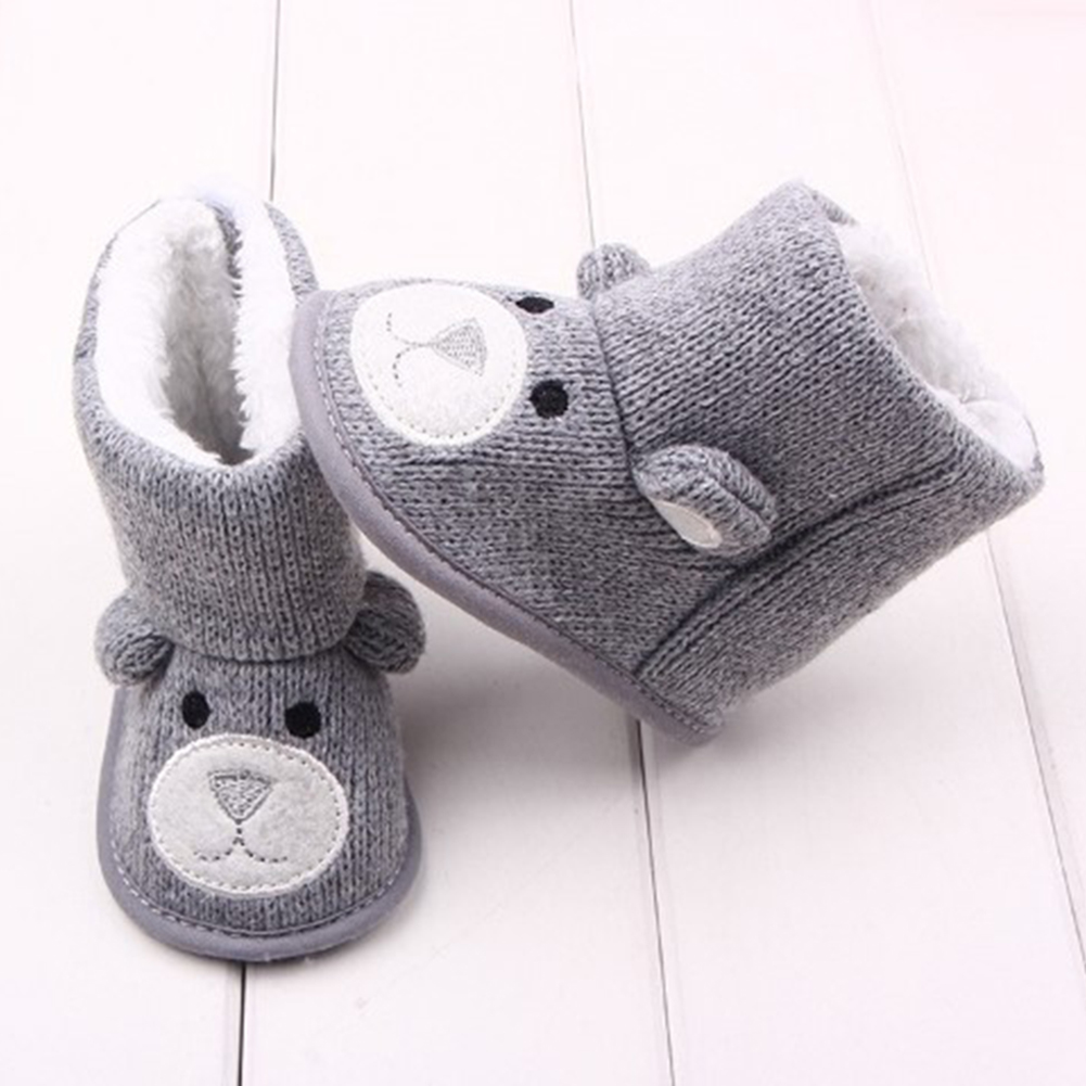 Baby Winter Boots Infant Toddler Cotton Knitted Newborn Cute Cartoon Shoes Girls Boys First Walkers Warm Snowfield Booties Boot