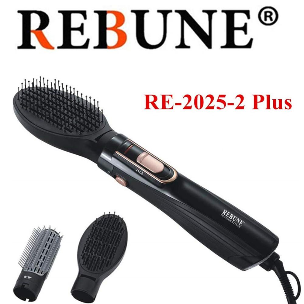 REBUNE hair styler1200W hair dryer RE-2025-1 PLUS Hair Straightener & Curler Conb Brush