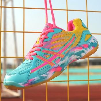 Женская обувь для волейбола, нескользящая спортивная обувь, повседневная обувь, кроссовки, мужская мягкая легкая обувь для бадминтона, тенн...
