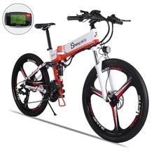 26 дюймов складной Электрический горный велосипед усилитель 48V10. 4ah литиевая батарея внедорожный ebike Электрический велосипед