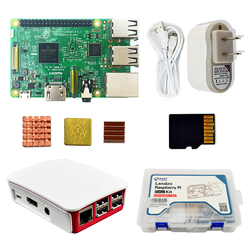 Raspberry Pi 3 Model B Starter Kit Pi 3 + Case + US Voeding + USB Kabel + 16G micro sd-kaart + koellichaam met Wifi Bluetooth