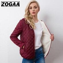 Autumn 2019 New Parkas basic jackets Female Women Winter plus velvet lamb hooded Coats Cotton Winter Jacket Womens Outwear coat цена