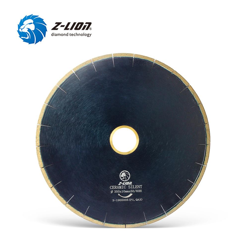 Z-LION 14 Inch 350mm Diamond Bridge Saw Blade Silent Core Cutting Disc Wet Use For Dekton Porcelain Granite Stone Fast Cutting