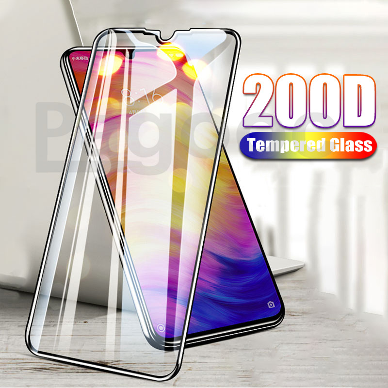 200D Tempered Glass On For Xiaomi Redmi 7 Note 7 8 6 Pro 8T Screen Protector Safety Film For Redmi 6 6A 7A 8 8A Protective Glass
