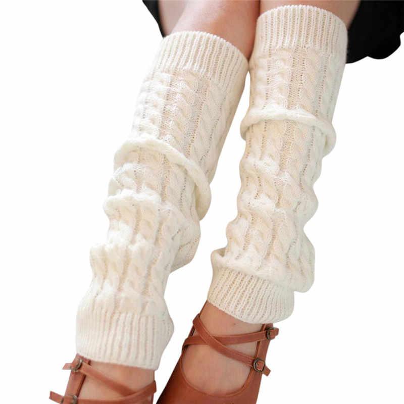 Twórcze nowa moda kobiety ciepłe zimowe klasyczne getry dzianinowe skarpetki damskie na co dzień podkolanówki Meias Meia Harajuku O8