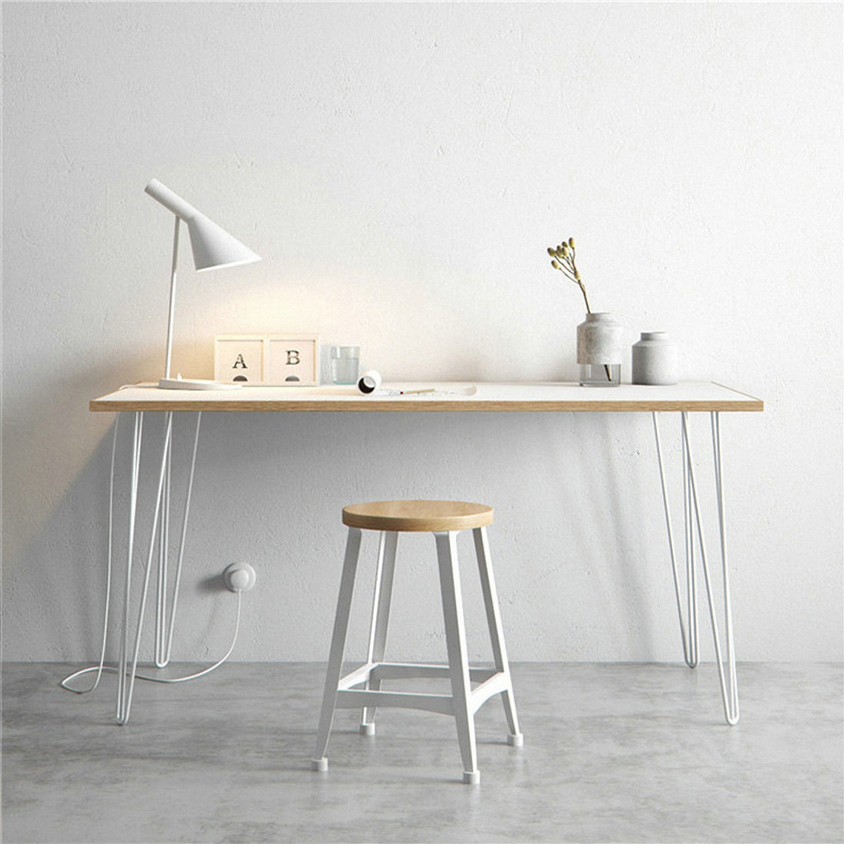 Northern Europe Simple Solid Wood Bedroom Desk Antique Office Desk Chair Household Computer Desk Designer Desk 1.2 Meters