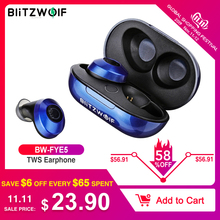 Blitzwolf Headphones Sports Ear-Buds Bass Stereo-Sound FYE5 Bluetooth 5.0 Wireless Tws True