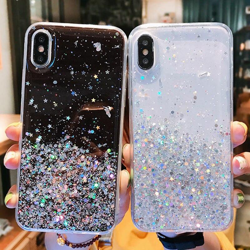 Funda de teléfono para Xiaomi de purpurina MI redmi note 4x5 5X 5A 6 6X 6A 7 7A 8 8A 8T 8X 9 9T 9S CC9 CC9E 10 A1 A2 A3 Lite K20 K30 pro