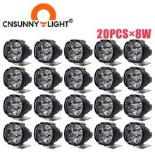 20 шт., Автомобильные светодиодные фасветильник 8 Вт 1000 лм