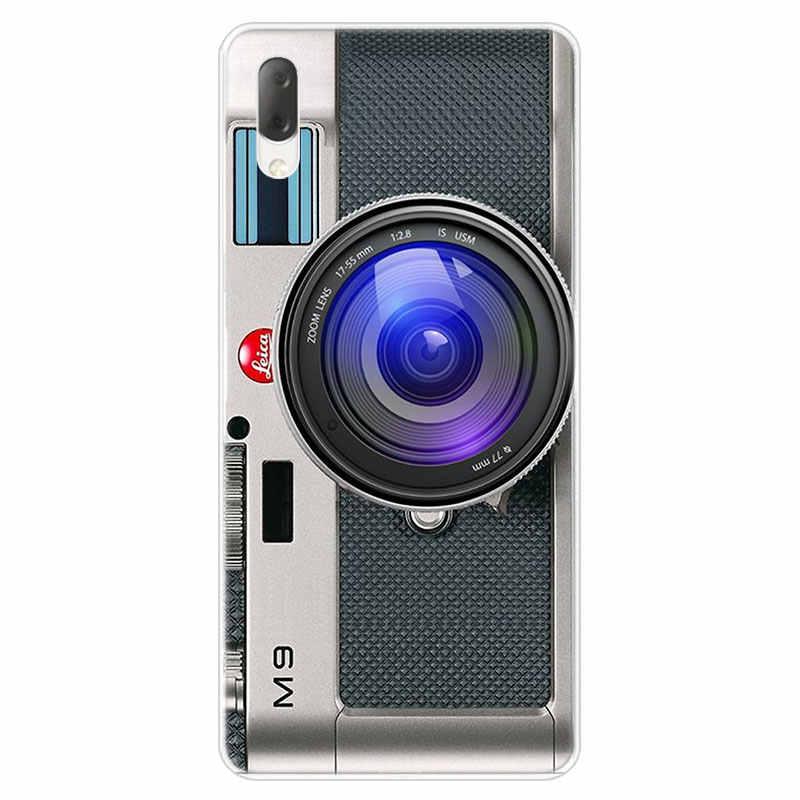 Retro aparat vintage kaseta muzyki etui do Sony Xperia L1 L2 L3 X XA XA1 XA2 Ultra E5 XZ XZ1 XZ2 kompaktowy XZ3 M4 Aqua Z3