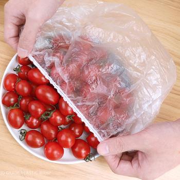 Jednorazowe torby do przechowywania świeżego osłony na żywność do przechowywania owoców torby do pakowania torby plastikowe torby kuchenne zachowywanie świeżości przechowywania żywności tanie i dobre opinie hedahlia CN (pochodzenie) Plastic wrap HDPE Food storage bag Kitchen storage bag