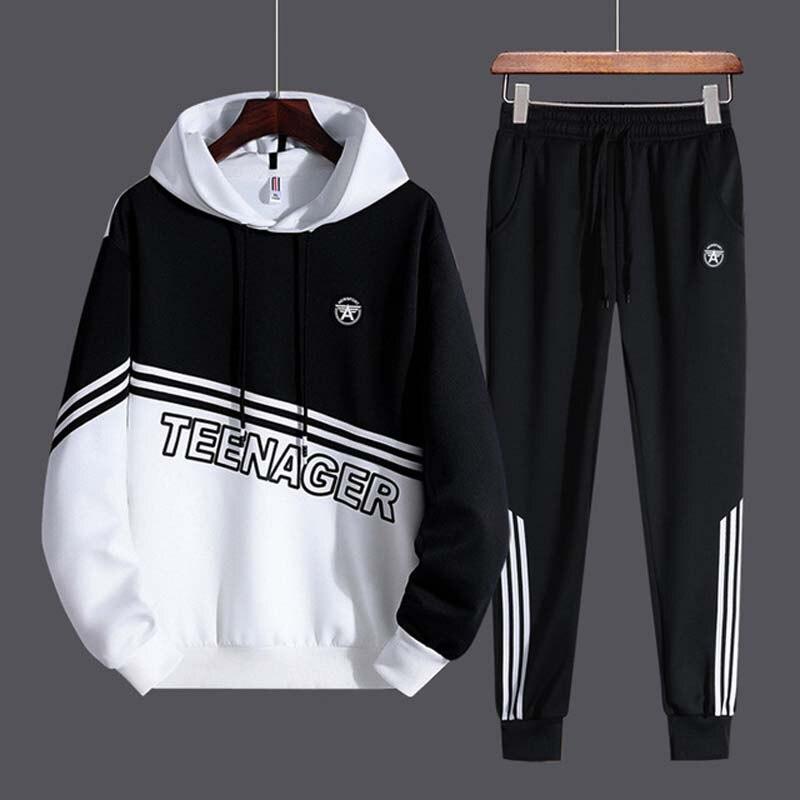 Tracksuit Women Two Piece Set Mens Outfit Teenger Sport Suits School Uniform Jogging Sweatsuit Autumn Sweat Suits Casual Men Set