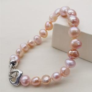Женский жемчужный браслет DAIMI, черный/фиолетовый/розовый браслет с натуральным пресноводным жемчугом, ювелирные украшения