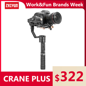 ZHIYUN Official Crane Plus 3-Axis Stabilizer Handheld Gimbal 2500g Payload for Mirrorless DSLR Camera Support POV Mode VS Crane2(China)