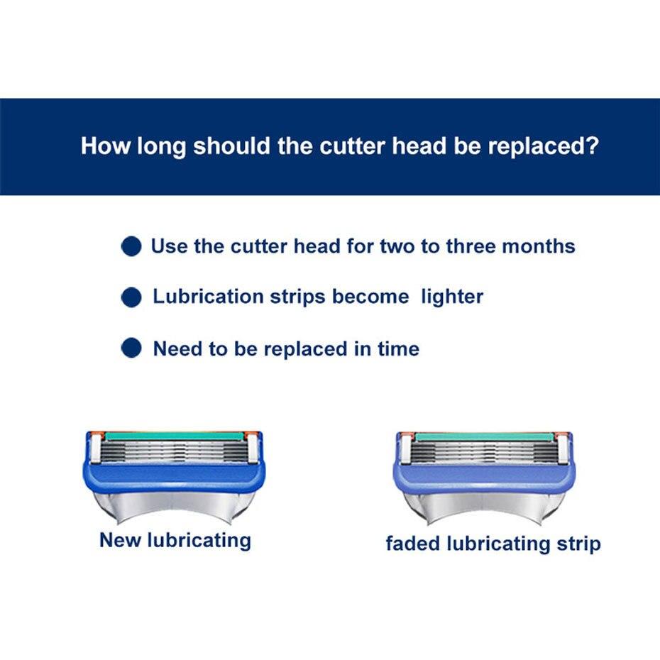 fusão 5 para homens barbear segurança manual